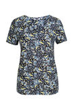 Dames T-shirt met all-over dessin, All-over print