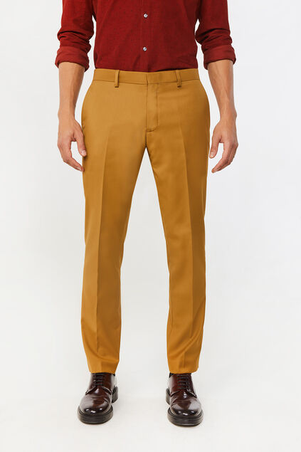 Heren slim fit pantalon Dali Mosterdgeel