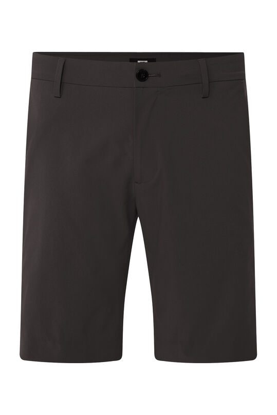 Heren hybrid lichtgewicht slim fit chinoshort, Tech Zwart