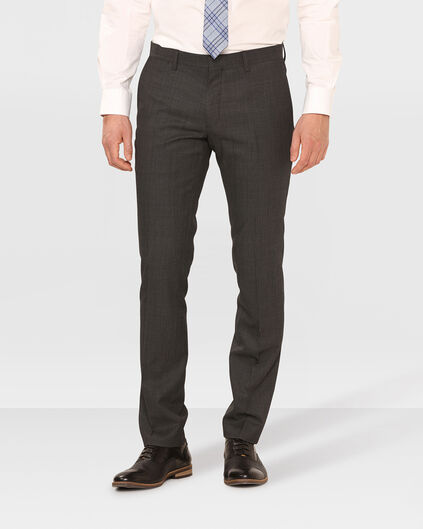 HEREN SLIM FIT PANTALON TOM Donkergrijs