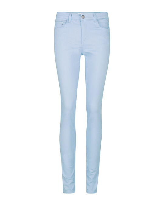 Dames mid rise skinny high stretch jeans Lichtblauw