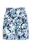 Dames mid waist short met smokwerk, All-over print