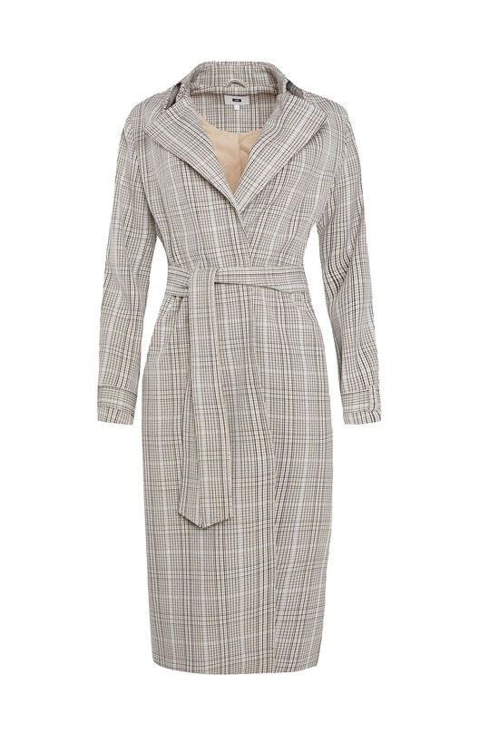 Dames geruite trenchcoat All-over print