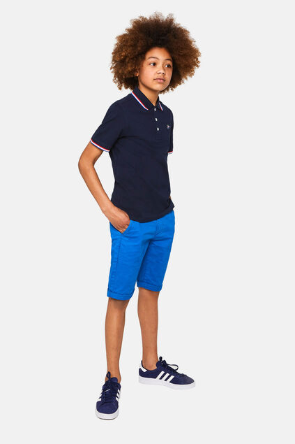 Jongens slim fit chino short Blauw