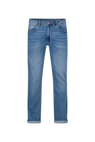 Heren regular straight comfort stretch jeans_Heren regular straight comfort stretch jeans, Lichtblauw