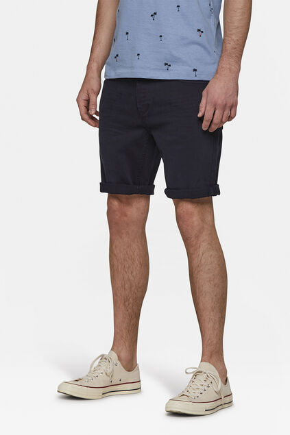 Heren regular fit denim short Marineblauw