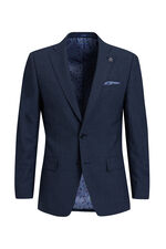 Heren slim fit blazer, Verge Donkerblauw