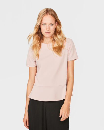 DAMES RUFFLE DETAIL TOP Roze