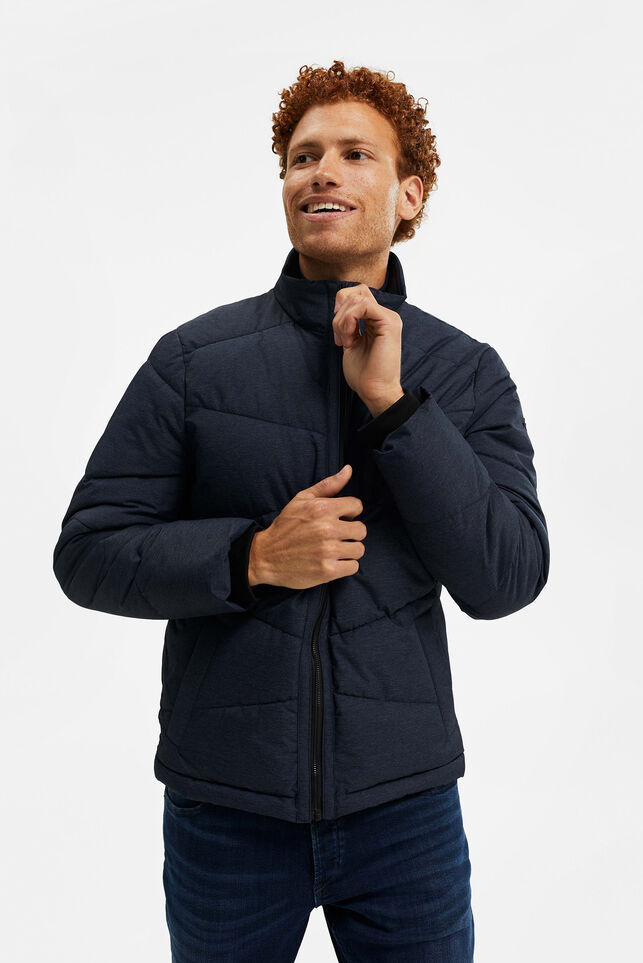 Heren pufferjacket Donkerblauw