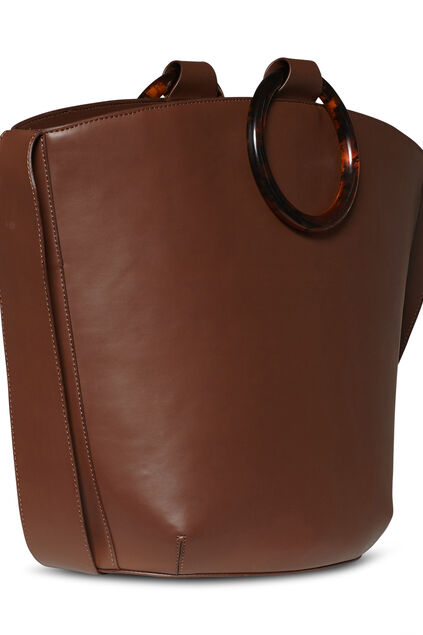 Dames shopper Cognac