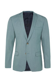 Heren skinny fit blazer Dali met stretch_Heren skinny fit blazer Dali met stretch, Grijsgroen