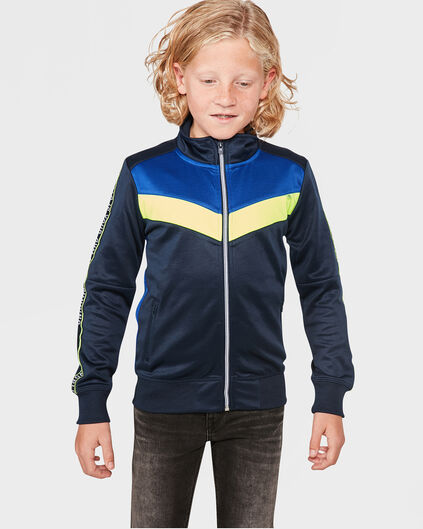 JONGENS SPORTY SWEAT-VEST Donkerblauw
