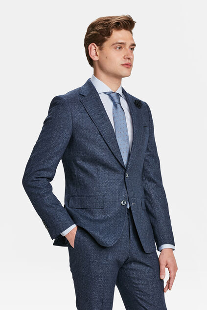 HEREN SLIM FIT BLAZER LISBURN Marineblauw