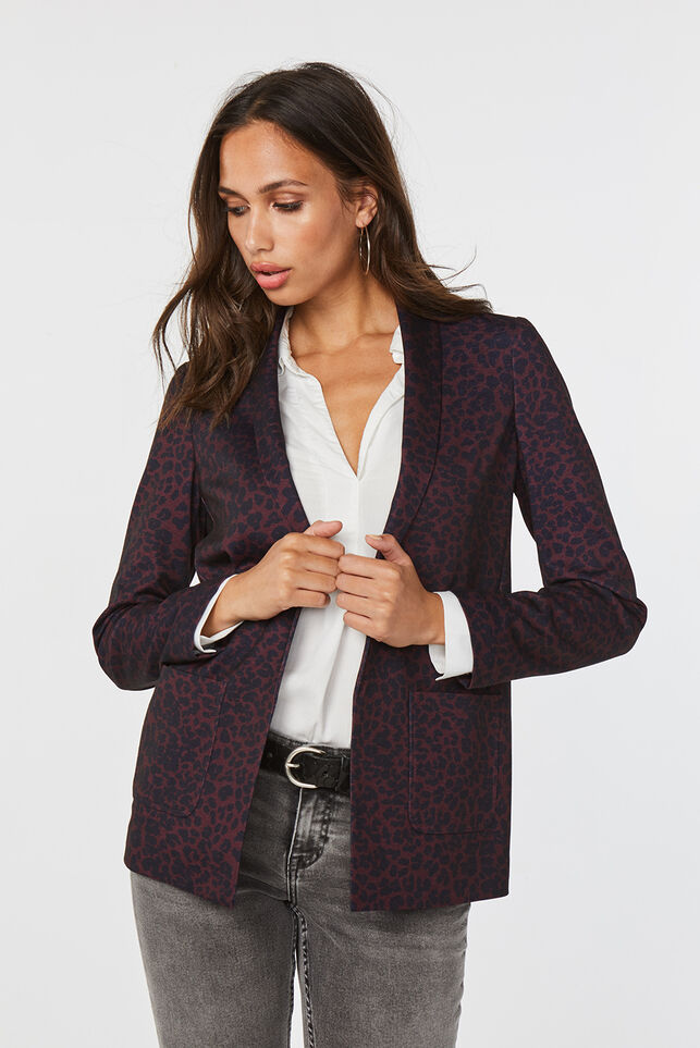 Dames regular fit blazer Donkerpaars
