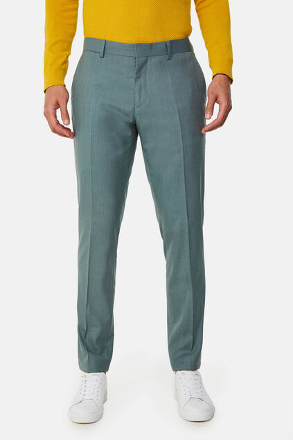 Heren slim fit pantalon met stretch, Dali Grijsgroen