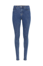 Dames high rise super skinny jeans_Dames high rise super skinny jeans, Blauw