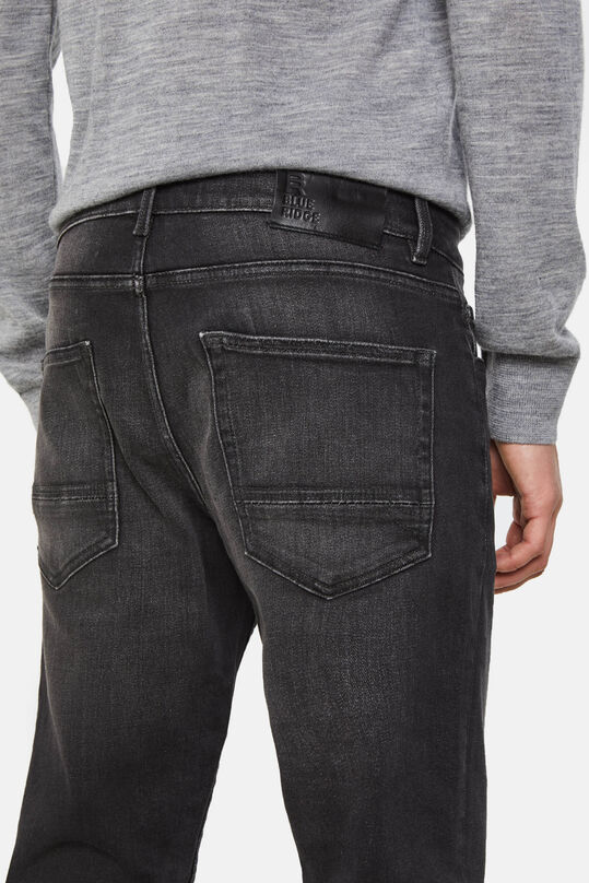 Heren regular fit jog denim jeans Zwart