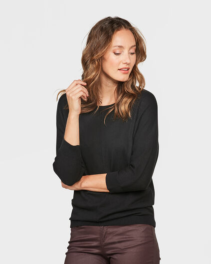 DAMES OVERSIZED KNIT TRUI Zwart