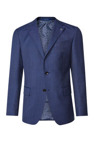 Heren regular fit blazer Matera_Heren regular fit blazer Matera, Marineblauw