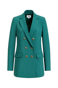 Dames regular fit double breasted blazer_Dames regular fit double breasted blazer, Groen