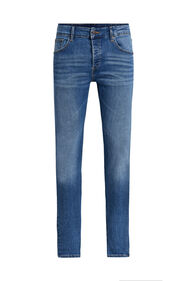 Heren skinny fit jeans met super stretch_Heren skinny fit jeans met super stretch, Blauw