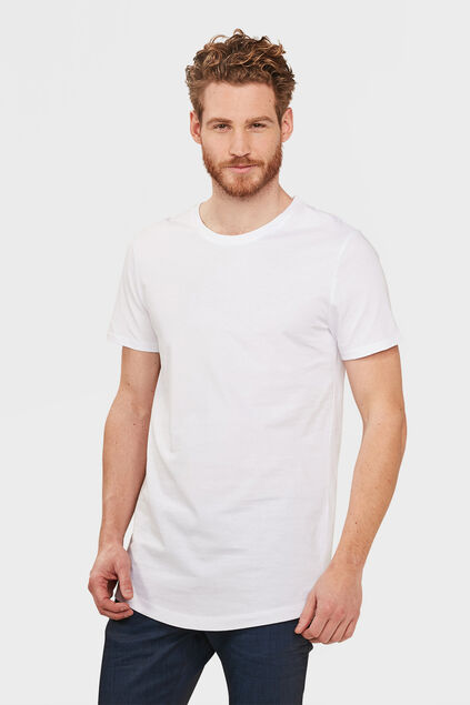 HEREN EXTRA LONG FIT T-SHIRT Wit