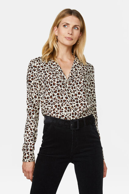 Dames dessin blouse All-over print