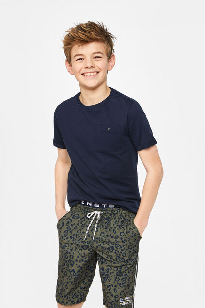 Jongens lange zwemshort met detail All-over print
