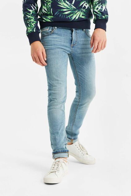 Jongens slim fit jeans met stretch Blauw