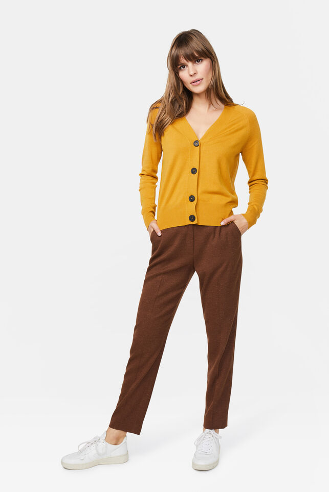 Dames slim fit pantalon Cognac