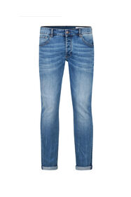 Heren Slim tapered comfort stretch jeans_Heren Slim tapered comfort stretch jeans, Lichtblauw
