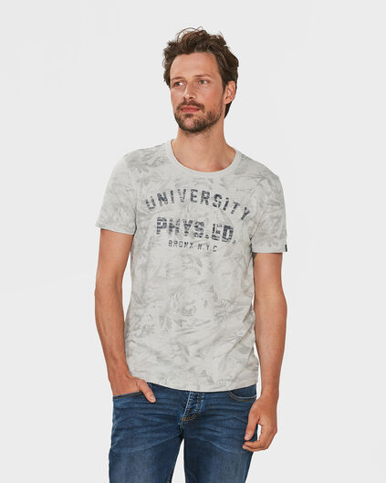 HEREN UNIVERSITY PRINT T-SHIRT Wit