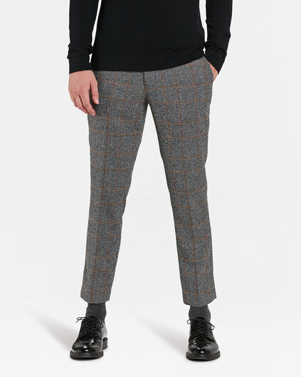 HEREN SLIM FIT PANTALON RON Lichtgrijs gemeleerd