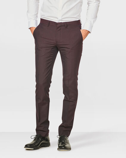 HEREN SLIM FIT PANTALON BALI Aubergine