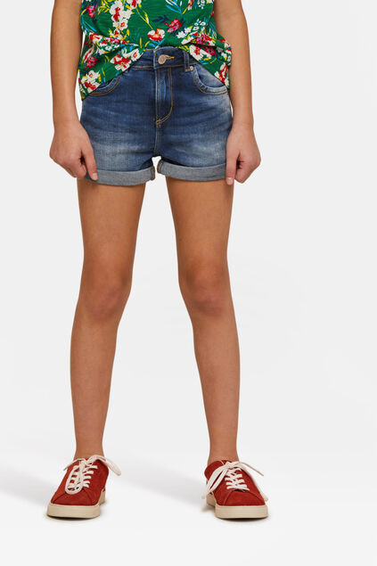 Meisjes jog denim short Blauw