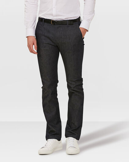 HEREN SLIM FIT DENIM CHINO Donkerblauw