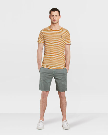 HEREN REGULAR FIT GARMENT DYED CHINO SHORT Groen