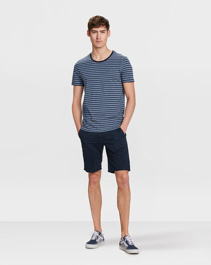 HEREN REGULAR FIT ANANAS CHINO SHORT Marineblauw