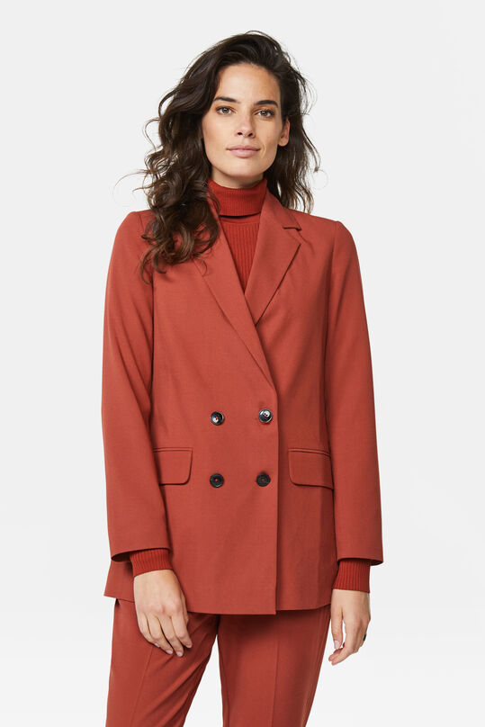 Dames regular fit blazer Bruin