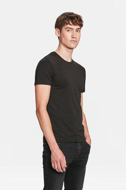 HEREN ORGANIC COTTON T-SHIRT Zwart