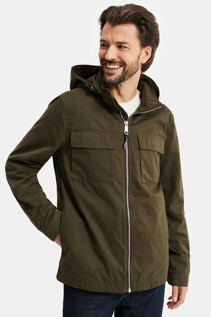 Heren field jacket Donkergroen
