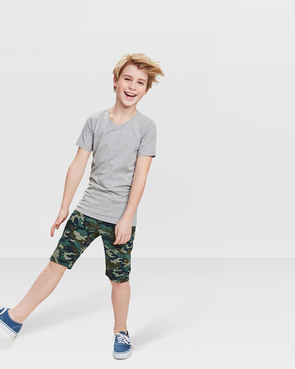 JONGENS CAMOUFLAGE SWEAT SHORT Groen