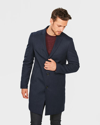 HEREN SLIM FIT TOPCOAT Donkerblauw