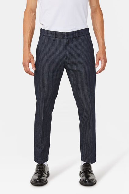 Heren denim chino Donkerblauw