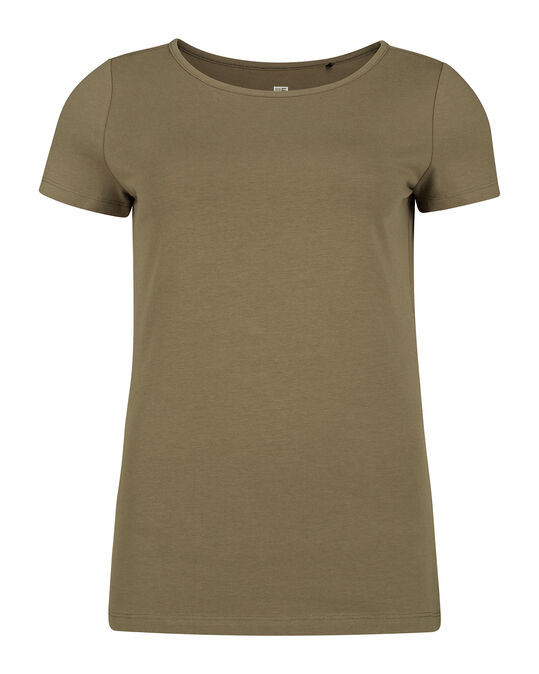 DAMES ORGANIC COTTON T-SHIRT Olijfgroen