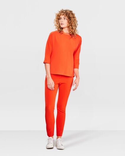 DAMES SOLID SLIM FIT PANTALON Oranje