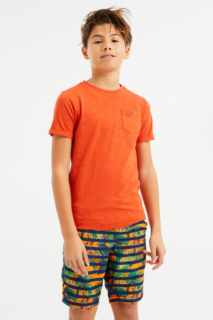 Jongens long fit zwembroek met dessin All-over print