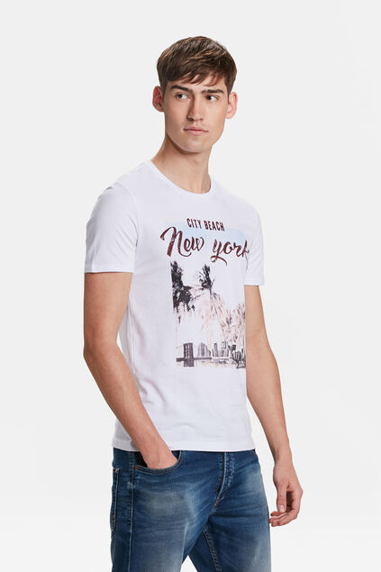 HEREN NEW YORK PRINT T-SHIRT Wit