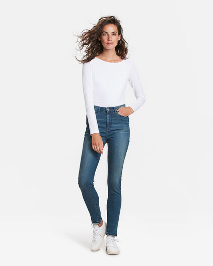 DAMES HIGH RISE SKINNY HIGH STRETCH JEANS Blauw