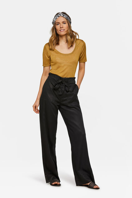 Dames relaxed fit flared broek Zwart